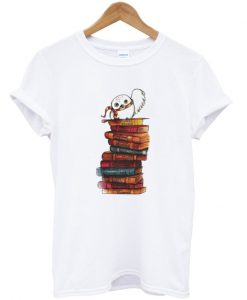 Owl And Books T Shirt KM