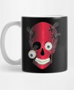 Red Skull Death Illustration Comic Eyes Mug KM