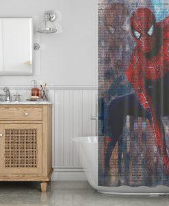 Spiderman Shower Curtain KM