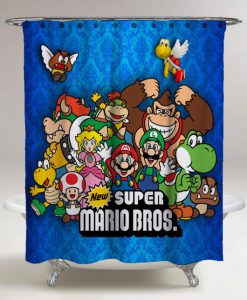 Super Mario Bros All Character Shower Curtains KM