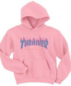 Thrasher Blue Fire Hoodie KM