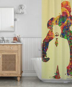 Tony Stark art Shower Curtain KM