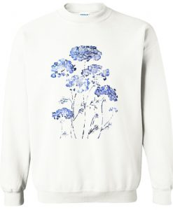 abstract queen anne's lace blue Sweatshirt KM