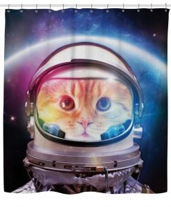 Space Cat Shower Curtain KM