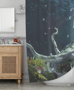 The Octopus Kingdom Shower Curtain KM
