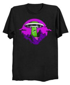 UFO Abduction Yikes T Shirt KM