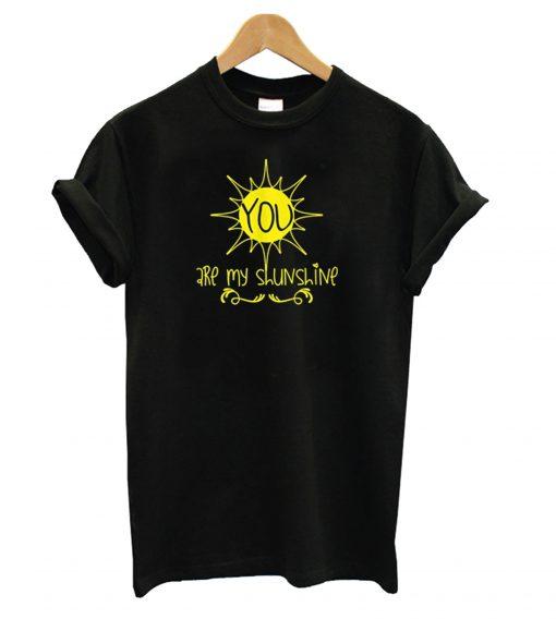 You are My Sunshine Black T Shirt KM