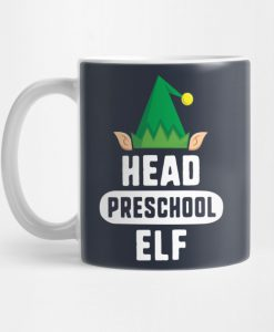 Head Lunch Elf Christmas Mug KM