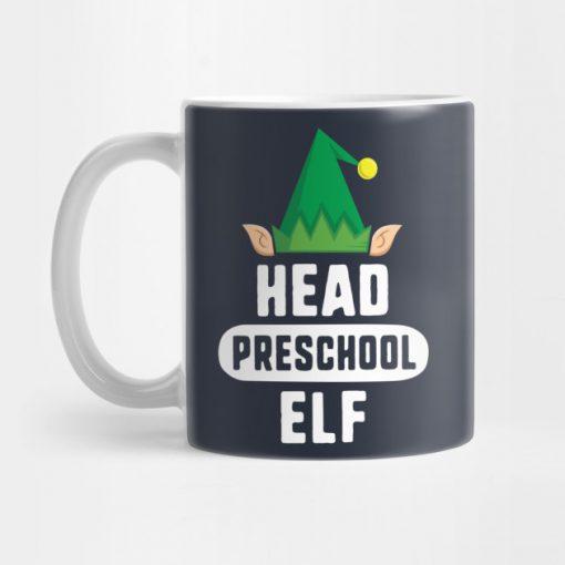 Head Lunch Elf Christmas Mug KM