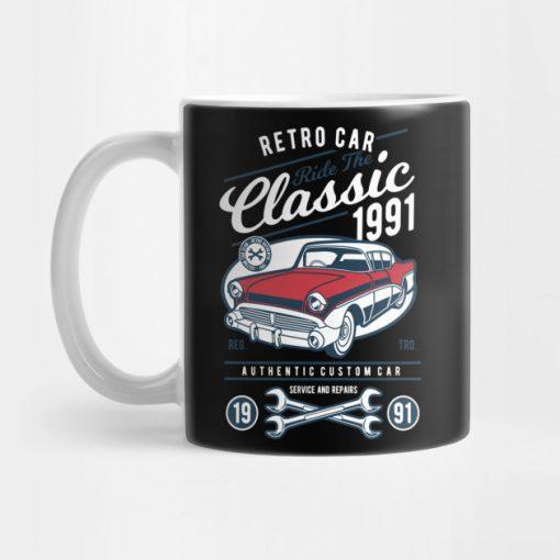 Retro Classic Car Mug KM