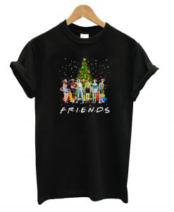 Stranger Things characters Friends Christmas T Shirt KM