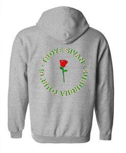 Troye Sivan Rose Hoodie Back KM