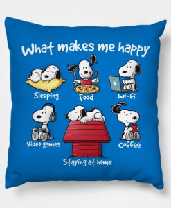 What makes mAe happy Pillow KM