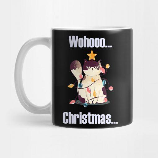 Wohoo Christmas Cat X-Mas Gift Mug KM