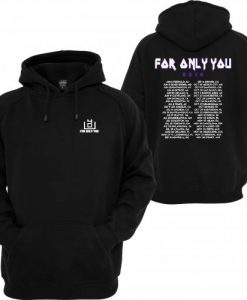 4OU World Tour 2016 Black Front and Back Hoodie KM