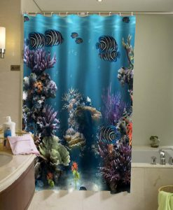 Aquarium Ocean Shower Curtain KM
