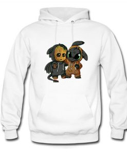 Baby Groot and Toothless dragon Hoodie KM