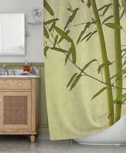 Bamboo art Shower Curtain KM