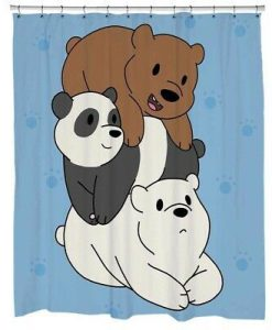 Bare Bears Custom Shower Curtain KM