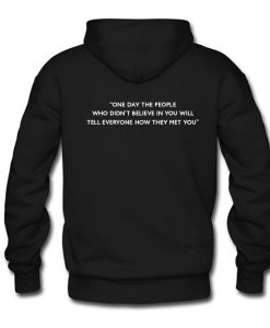 One Day the People Hoodie Back KM