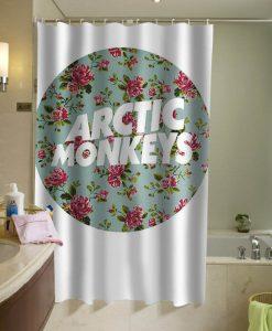 arctic monkeys logo flower shower curtain KM