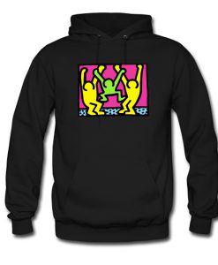 American People Dancing Pop Art Style Hoodie KM