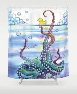 Bath Time Octopus Shower Curtain KM