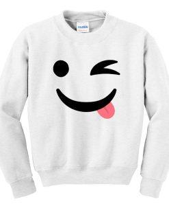 Silly Wink Emoji Sweatshirt KM