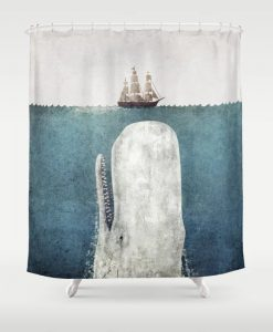 The Whale Vintage Shower Curtain KM