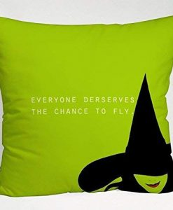 Wizard of OZ Wicked Musical Quote Throw Pillow Cover KM
