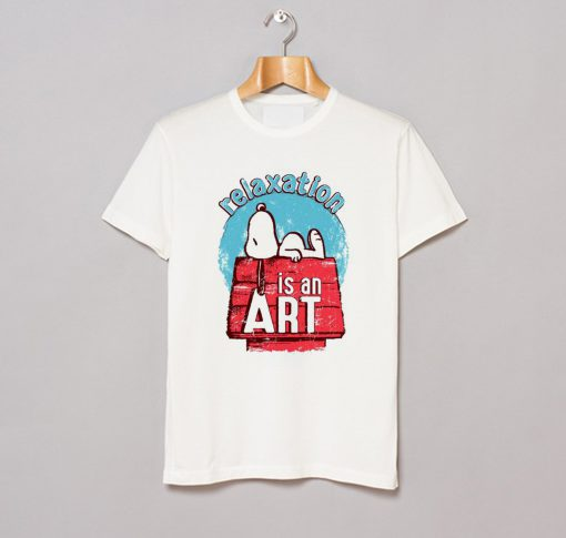 Relaxation Is An Art Snoopy T Shirt KM
