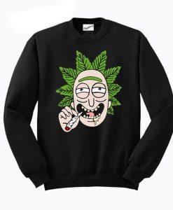 Rick And Morty Cannabis Smoking Sweatshirt KM