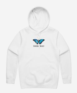 Yours Truly Blue Butterfly Hoodie KM
