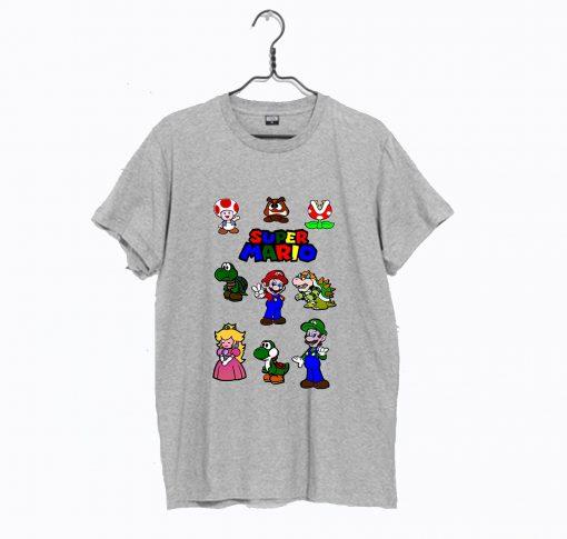 Super Mario Bros Gaming Characters Nintendo T Shirt KM