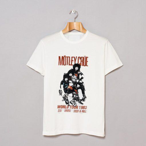 Motley Crue World Tour 83 T Shirt KM